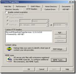 IIS Application Properties